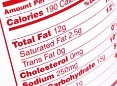 Etichetta valori nutrizionali