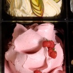 strawberry, coffee, cream ice cream