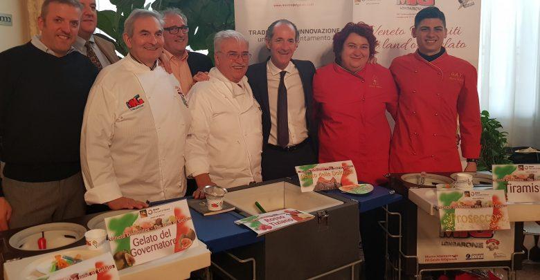 Palazzo Balbi: il gelato artigianale con le De.Co. al Punto Stampa per gli auguri della Regione Veneto